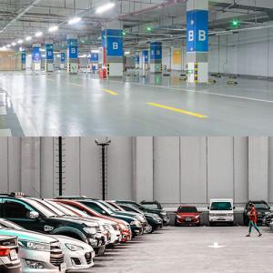 retail indoor parking lighting