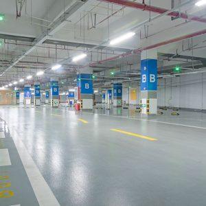 retail parking lot retrofit project